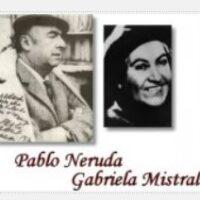 Pablo Neruda y Gabriela Mistral