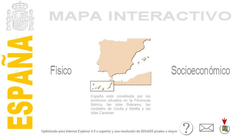 Mapa Interactivo Islas Baleares.Mapa Interactivo De Espana Recursos Educativos Digitales