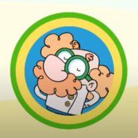 Profesor Sosteneto. Reciclaje pra niños y niñas