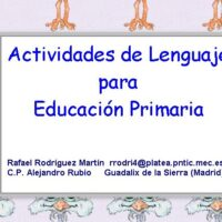 Actividades de lenguaje para educación primaria