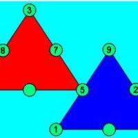 Cuadrados de 10 y triángulos de 15