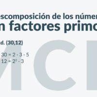 Cálculo del máximo común divisor y del mínimo común múltiplo