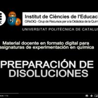 Técnicas básicas de laboratorio: preparación de disoluciones