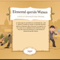 Elemental querido Watson: juegos de ortografía para primaria