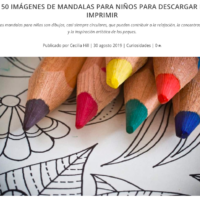 Mandalas, 50 imágenes para niñas y niños