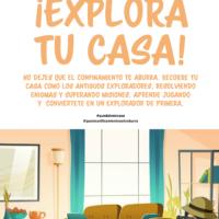 Explora tu casa. Un cuaderno con misiones y enigmas para hacer con niños durante el confinamiento