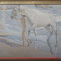 """""""El baño del caballo"""" de Joaquín Sorolla para niños"""