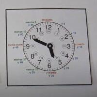 La hora en el reloj