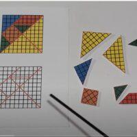 El tangram cuadriculado