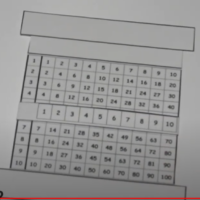 Tabla de multiplicar deslizante