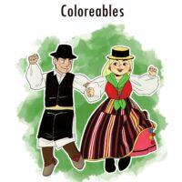 Coloreables de trajes tradicionales de Tenerife del Consejo Sectorial Indumentaria Tradicional Tenerife