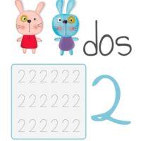 Fichas para la escritura de los números (1 al 20)