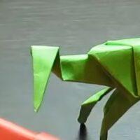 Origami de animales: Cómo hacer una Mantis Religiosa paso a paso