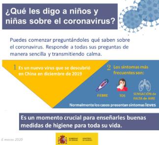 ¿Qué les digo a niños y a niñas sobre el coronavirus?