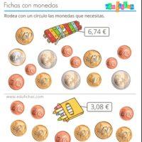 Fichas con monedas (€)