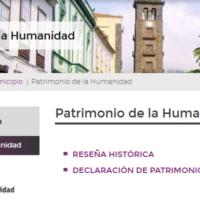 Web de La Laguna Patrimonio de la Humanidad