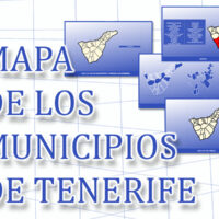 Mapa de los municipios de Tenerife