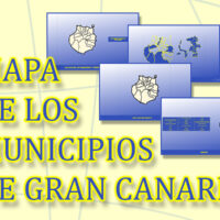 Mapa de los municipios de Gran Canaria