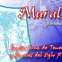 Mural para colorear: Santa Cruz de Tenerife a finales del siglo XVIII