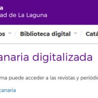 Prensa canaria digitalizada. Universidad de La Laguna