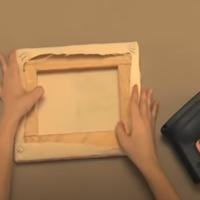 Preparación de un lienzo