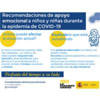 Recomendaciones de apoyo emocional a la infancia