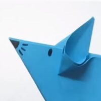 Origami ratón de papel