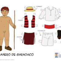 Láminas recortables de trajes tradicionales de Tenerife del Consejo Sectorial Indumentaria Tradicional Tenerife