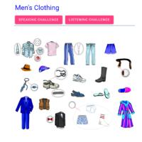 Men's clothing (la ropa de hombre)