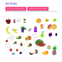 Le fruits (la fruta)