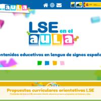 LSE en el aula:contenidos educativos en lengua de signos española