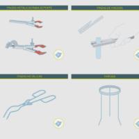 Material para soporte y sujeción: pinzas y soportes