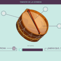 Instrumentos musicales canarios. Tambor de La Gomera