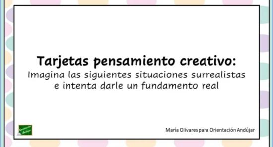 Tarjetas para ejercitar el pensamiento creativo