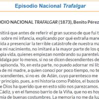 Episodio Nacional: Trafalgar (1873), Benito Pérez Galdós (fragmento))