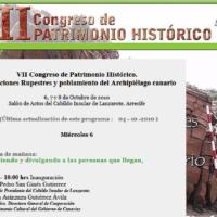 VII Congreso Patrimonio histórico. Lanzarote