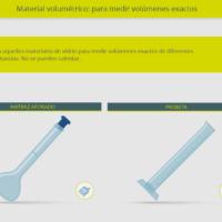 Material volumétrico: para medir volúmenes exactos