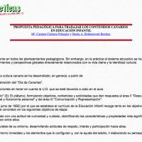 Propuesta pedagógica para trabajar los contenidos canarios en educación infantil