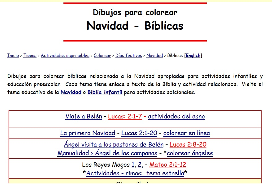 Biblia infantil » Recursos educativos digitales