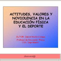 Actitudes, valores y no violencia