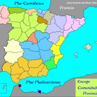 Autonomías - Mapa interactivo