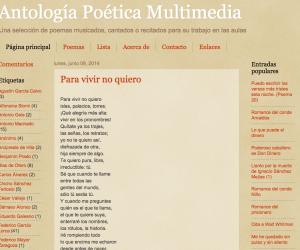 Antología poética multimedia