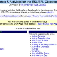 Games & Activities for the ESL/EFL Classroom