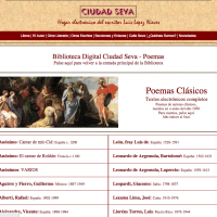 Poemas. Ciudad Seva