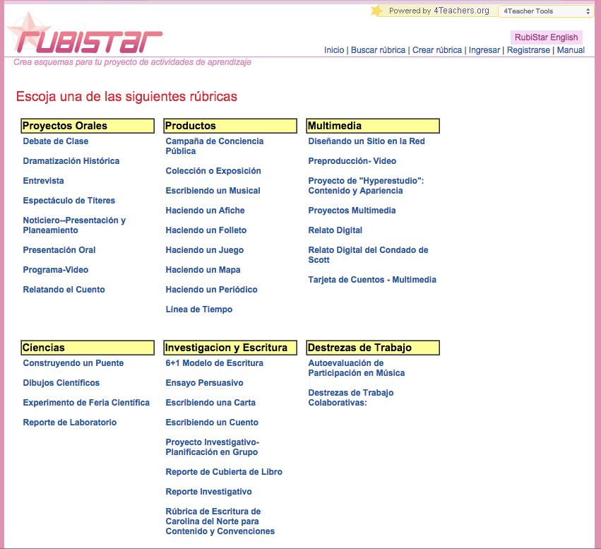 Rúbricas. Evaluación de contenidos de Lengua » Recursos educativos ...