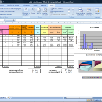 tabla estadística con hoja de cálculo