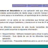 Literatura interactiva para Secundaria
