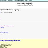 Manythings.org. Recursos para aprender inglés