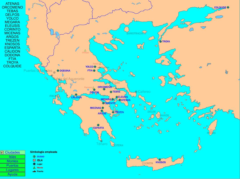 Mapa De Antigua Grecia.Mapa De La Antigua Grecia Recursos Educativos Digitales