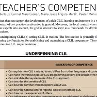 The CLIL teacher's competences grid
